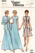 1970's VTG VOGUE Misses' Jacket and Dress  Pattern 8869 Size 14.5  UNCUT