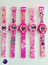 1x Girl Kid Child Frozen OR Princess Digital rubber Band Wrist Watch gift her