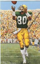 James Lofton Green Bay Packers unsigned Goal Line Art Card in Toploader