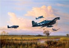 """""""Easy Kill Over Luzon"""" Jim Laurier S/N Limited Edition Print - WW II Hellcats"""