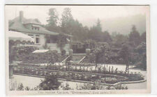Benvenuto Italian Garden Tod Inlet Vancouver Island BC Canada RPPC postcard