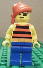 LEGO MINIFIGURE - PIRATES RED & BLACK STRIPES, RED BANDANA - NEW