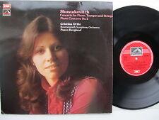 Shostakovitch Piano Concerto 1 & 2 Ortiz  BSO Berglund HMV ASD 3081 GB 1975