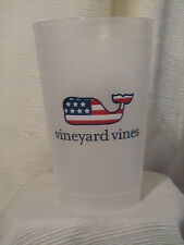 Vineyard Vines Classic Flag Design Tumbler/Cup & FREE Whale Sticker