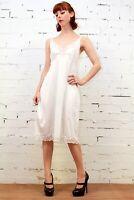 KAYSER Vintage SILKY NYLON White LACE Dress Slip Negligee Lingerie Size AUS 10 S