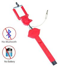 Sexy Kissing Lips Extendable Selfie Wired Stick Holder Monopod for Smartphone