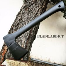 """14"""" Carbon Steel Tactical Hunting Axe Camping Throwing Hatchet Survival Combat-a"""