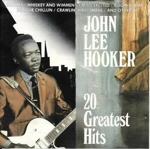 John Lee Hooker (Europe) - 20 Greatest Hits CD - 1988 Blue City CD 2652212
