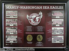 MANLY WARRINGAH SEA EAGLES THE HISTORICAL SERIES LTD ED OFFICIAL NRL PRODUCT