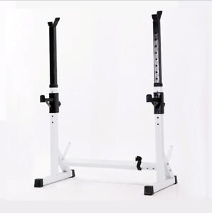 Squat Rack Heavy Duty Gym Squat Barbell Power Rack Stand Weight Bench Support