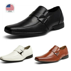 Teresamoon-Shoes Mens Ventilation Pointed Toe Business Casual Patent Leather Wedding Dress Shoes