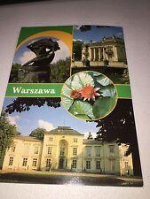Poland Warszawa Warsaw Pastcard (1980's?) - Several Views