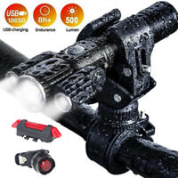 USB wiederaufladbare helle LED Fahrrad Fahrrad Frontscheinwerfer und Heck HecXUI