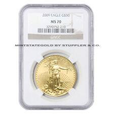 $50 Gold Eagle NGC MS70 1 oz American Bullion uncirculated 22KT coin Random Year