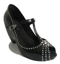 Zapatos De Fiesta Melissa Couture X J Maskrey Swarowski Negro Uk 5 EU 38 Nuevo Y en Caja Especial