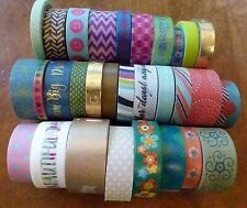 Lot Of 30 Washi Tapes Lightly Used Rolls - Decorative Paper