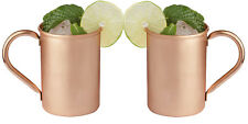 Set of 2 Classic Solid Copper Moscow Mule Mugs No Lining Smooth Finish 16 o