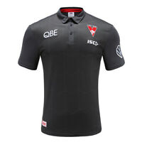 Sydney Swans AFL 2020 Players ISC Carbon Sublimated Polo Shirt Size S-5XL!