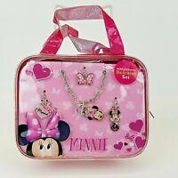 Girls Disney Minnie Mouse Bracelet Set 4 Charms Bonus Mini Purse Bag