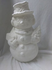 """Snowman 9"""" Ceramic Bisque, Ready To Paint"""