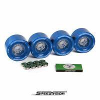 Longboard Rollen 83mm blau+ ABEC 9 / Longboard wheels 83mm blue + ABEC 9