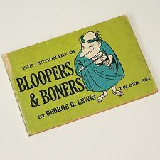 BLOOPERS & BONERS - 1967 1st humorous compilation Good. Vintage Old Skool comedy
