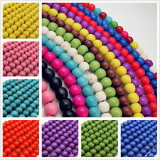 80Pcs Natural Turquoise Gemstone Round Loose Spacer Beads Jewelry Making DIY 6mm