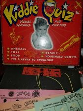 Rare Vintage Kiddie Quiz Game Tiny Tots Jacmar Co Nyc Uses Battery collectible