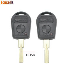 Pair 3 Buttons Remote Key Shell for BMW E39 5 SERIES 1995-2003 HU58 Blade
