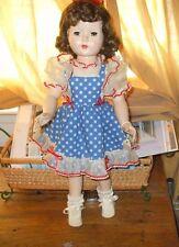 """Vintage Effenbee """"Honey"""" Doll 1950's Pinafore Dress  Brown Hair/Eyes Collectible"""