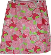 Lilly Pulitzer Womens Ladies Pink Floral Reversible Wrap Skirt Size 10
