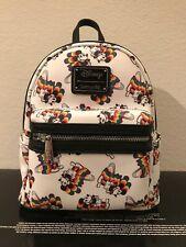 NWT Loungefly Disney Rainbow Mickey Mini Backpack