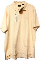 Izod Mens Yellow Cotton Short Sleeve Golf Polo Shirt Size XL New
