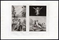 Antique Print-PAINTING-MYTHOLOGY-EXCAVATION-POMPEII-AQUATINT-Fumagalli-1830