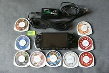 PSP 3000 3001 TESTED - 1 GB memory card  and 9 games