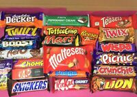 Variety Chocolate Huge 21 Bar UK Gift Box Hamper Cadbury Nestle Malteser Reeses