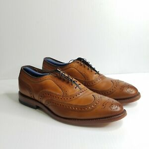 Allen Edmonds McAllister Walnut Calf Wingtip Brogue Leather Oxford Sz US 9.5 E