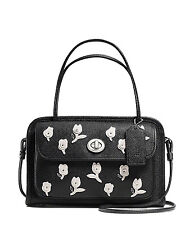 NWT Coach 34454 Cady Crossbody Satchel In Floral Applique Leather Limited $395