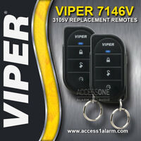 Pair of Viper 3105V Alarm Replacement Remote Controls 7146V 1-Way - NEW STYLE
