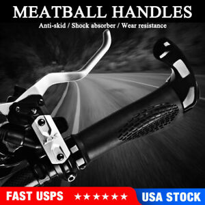 Mountain Bike Handlebar Grips Ergonomics Lock-on DH/BMX Cycling Rubber Bar Plugs