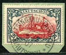 Kiautschou Mi 37 IA  Kab.-Briefstück  Ts.-Tapautau  600,-