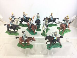 Lot 11 Vintage Britains Swoppet Civil War Confederate Cavalry Mounted