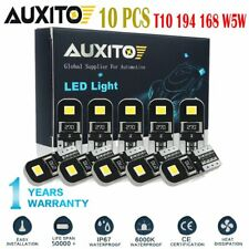10X Canbus T10 194 168 W5W 2825 LED White License Plate Side Wedge Light Bulb CH