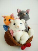 Disney store aristocrats tolouse Berlioz marie plush set soft toy