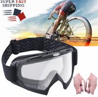 Motorcycle Goggles Bendable Dirt Bike Motocross ATV Riding Glasses Clear Lens
