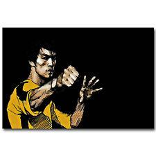 Bruce Lee Kung Fu Póster motivacional Seda 12x18 24x36 pulgadas 04