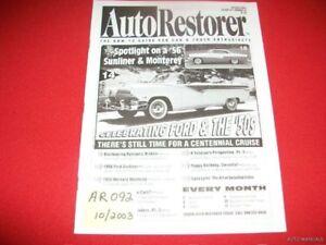 AUTO RESTORER - 1956 SUNLINER & MONTEREY  10/03
