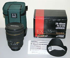 SIGMA 20-40 mm F2.8 EX DG Aspherical Lens for NIKON