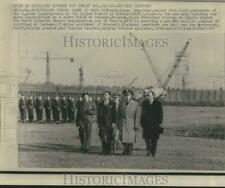 1967 Press Photo General Lyman Lemnitzer with Belgian officials at NATO site