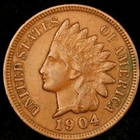 1904 Indian Head Cent-Extra Fine Scarce Better Date